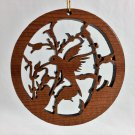 Hummingbird Ornament Laser Redwood Handcrafted #1057L HWP