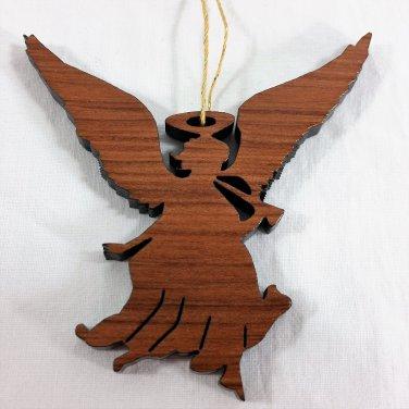 Angel Ornament Handcrafted Redwood HWP