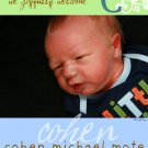 Fancy Initial-Boy Birth Announcements