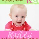 Fancy Initial-Girl Birth Announcements