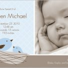 Birdie-Boy Birth Announcements