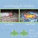 Twin Boys Birth Announcements