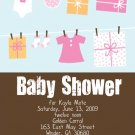 Laundry-Girl Baby Shower Invitations