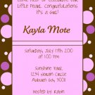 Dots-Girl Baby Shower Invitations