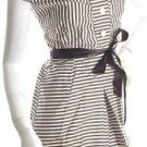 vintage inspired 1950s striped belted waitress dress models off duty style fashion clothing