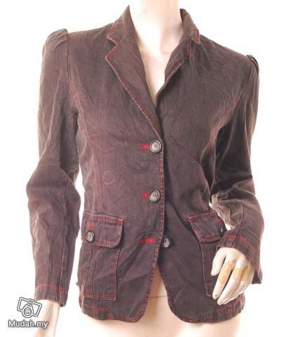 models off duty style fashion clothing Rock Star Pouf Slv Blazer M VINTAGE 80S AVANT GARDE USA 8/10