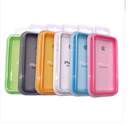 OEM SILICONE APPLE BUMPERS CASE FOR IPHONE 4 -ORANGE