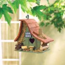 *(FREE SHIPPING)* WOOD LOVE SHACK BIRDHOUSE