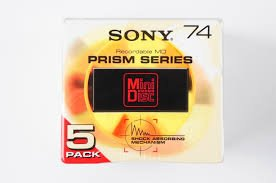 Sony MD 74 MDW-74H PRism Series Blank minidisc 8-pack