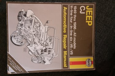 1949-1986 Jeep CJ Repair Manual Haynes