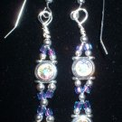 Sterling Silver AB Swarovski Earrings