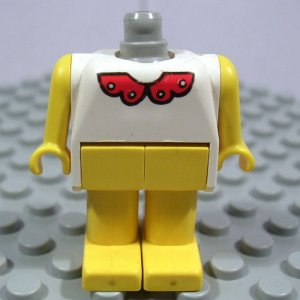 LEGO Fabuland Figure Bunny 4 Collar no head (single,U)