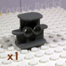 LEGO Dark Bluish Gray Rubber Band Belt Holder 2x4x2.3 (single,N)