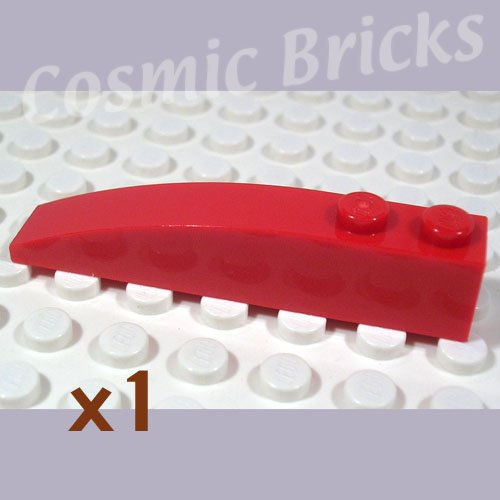LEGO Red Slope Curved 6x1 4160390 42022 (single,N)