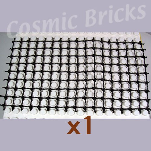 LEGO Black String Net 8x16 Rectangle (single,N)