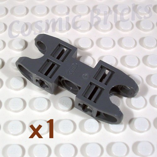 LEGO Dark Bluish Gray Technic Axle Pin Connector 2x5 Two Ball Joint Sockets 4217826 47296 (single,N)