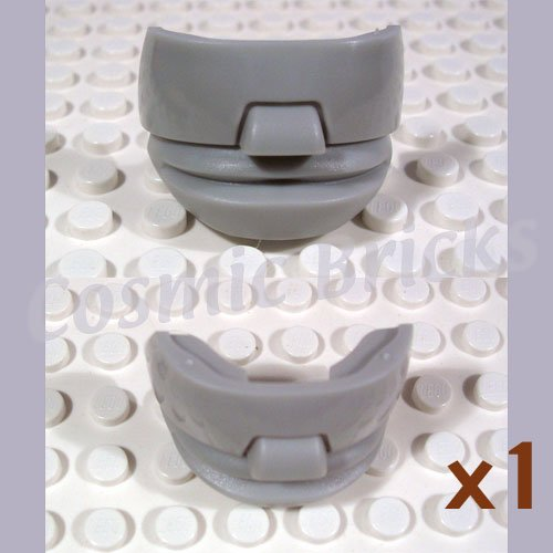 LEGO Light Gray Sports Hockey Mask 4 glasses 44855 (single,N)