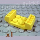 LEGO Yellow Plate Modified 2x2 with Grills 4163525 (single,N)