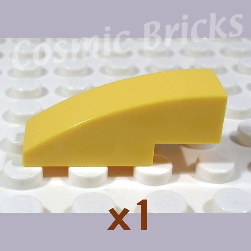LEGO Yellow Slope Curved 3x1 No Studs 4247771 50950 (single,N)