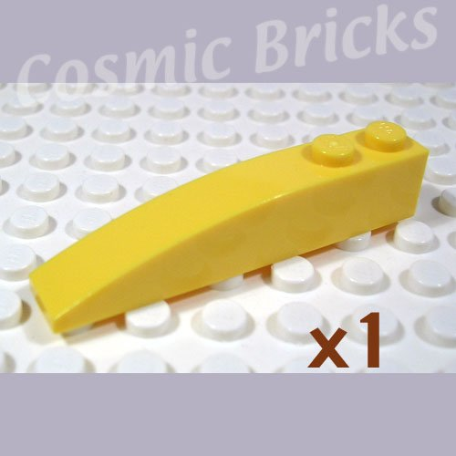 LEGO Yellow Slope Curved 6x1 4160392 42022 (single,N)