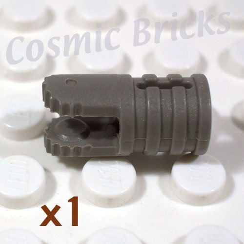 LEGO Dark Gray Hinge Cylinder 1x2 Locking 2 Fingers Axle Hole On Ends 4142725 30561 (single,U)