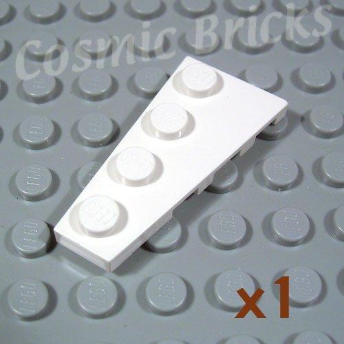 LEGO White Wedge Plate 4x2 Left 4161326 41770 (single,N)