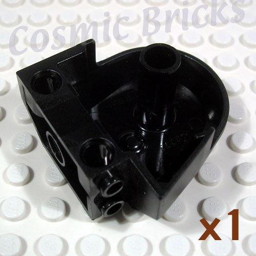 LEGO Black Dinosaur Body Quarter Pin Holes 40373 (single,U)