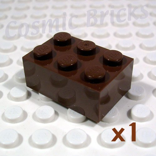 LEGO Brown Brick 2x3 300202 4159269 3002 (single,N)