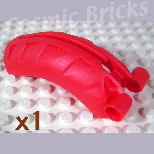 LEGO Metallic Bright Red Bionicle Rahkshi Back Cover Groove 4215830 44140 (single,N)