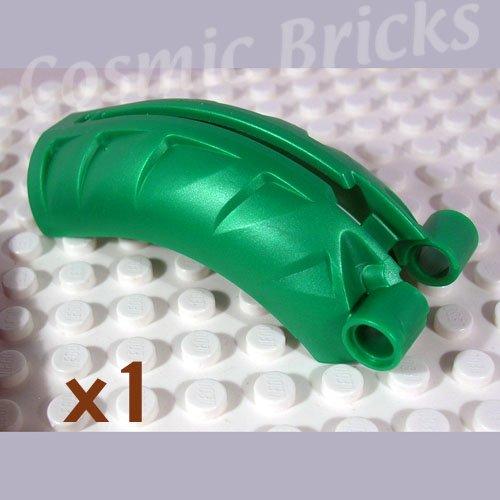 LEGO Metallic Dark Green Bionicle Rahkshi Back Cover Groove 4215831 44140 (single,N)