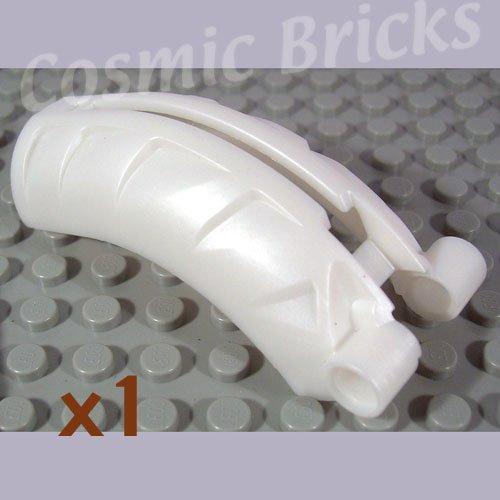 LEGO Pearl White Bionicle Rahkshi Back Cover Groove 44140 (single,N)