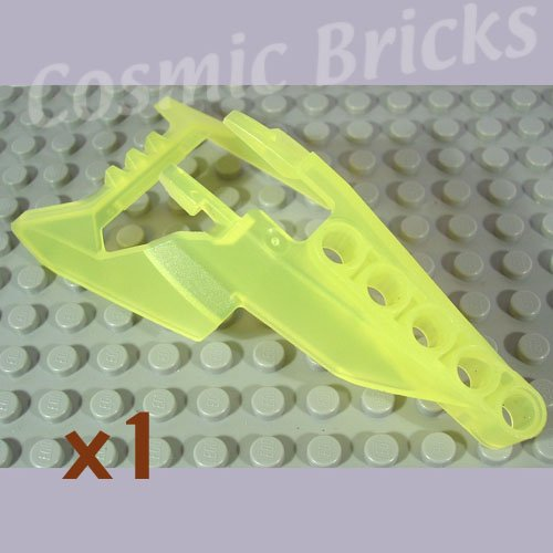 LEGO Trans-Fluorescent Green Bionicle Head Connector Block Eye Brain Stalk Vahki x1190 (single,N)