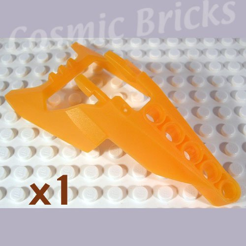 LEGO Trans Neon Orange Bionicle Head Connector Block Eye Brain Stalk Vahki x1190 (single,N)