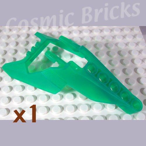 LEGO Trans Green Bionicle Head Connector Block Eye Brain Stalk Vahki x1190 (single,N)