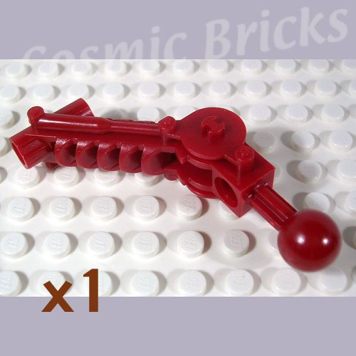 LEGO Dark Red Bionicle Ball Joint 5x7 Arm dual axle 90 degrees 4234440 32476 (single,N)