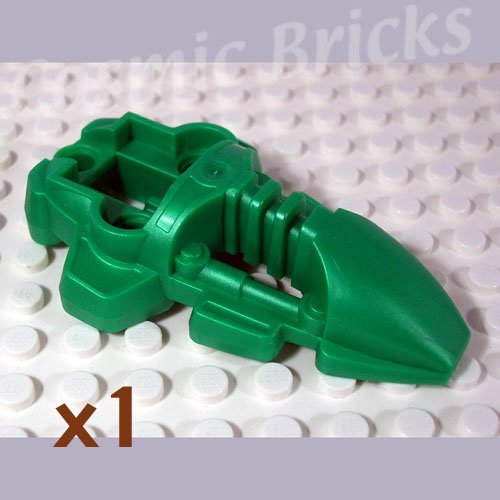LEGO Metallic Dark Green Bionicle Foot Rahkshi 4191680 44138 (single,N)