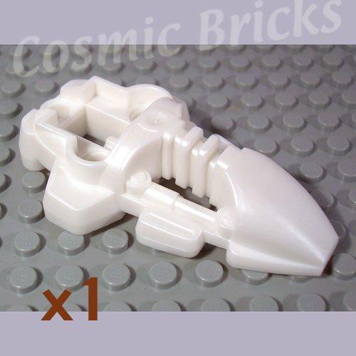 LEGO Pearl White Bionicle Foot Rahkshi 4191676 44138 (single,N)