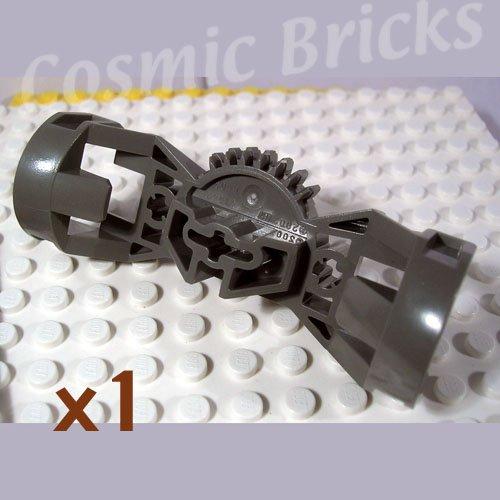 LEGO Dark Gray Bionicle Rahkshi Torso Gear 7 Tooth 3 Axle Holes 44247 (single,N)