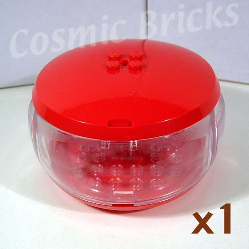 LEGO Red Container X-Pod Trans-Clear Barrel 47674 (single,N)