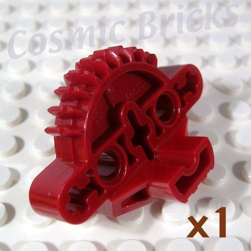 LEGO Dark Red Bionicle Matoran Torso Gear 9 Tooth 3 Axle Holes 2 Pin Holes 4227870 44810 (single,N)
