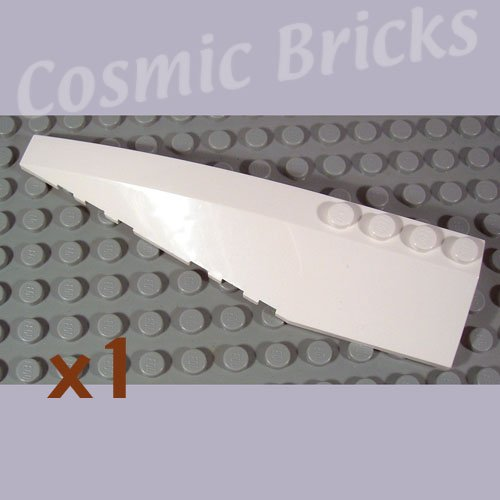 LEGO White Wedge 12x3 Left 4162781 42061 (single,N)