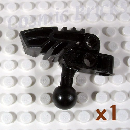 LEGO Black Bionicle Head Connector Block Vahki 4528081 47332 (single,N)