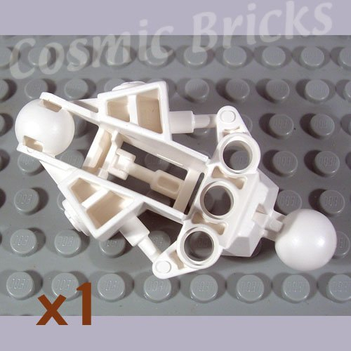 LEGO White Bionicle Vahki Leg Lower Section 4289378 47328 (single,N)