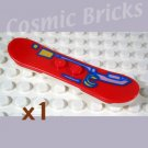 LEGO Bright Red Snowboard with Red Minifig Outline 46203 (single,N)