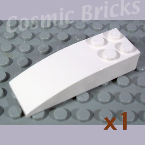 LEGO White Slope Curved 6x2 4179870 44126 (single,N)