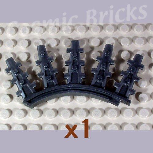 LEGO Flat Silver Bionicle Rahkshi Back Blade 5 spikes Vorahk 44146 (single,N)