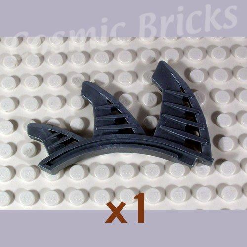 LEGO Flat Silver Bionicle Rahkshi Back Blade 3 blades shark fins Lerahk 44144 (single,N)