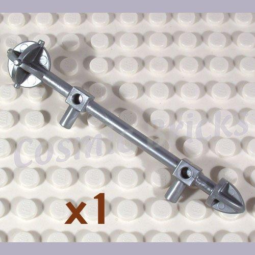 LEGO Flat Silver Minifig Weapon Bionicle Mini Staff Nuju 4275514 51643 (single,N)