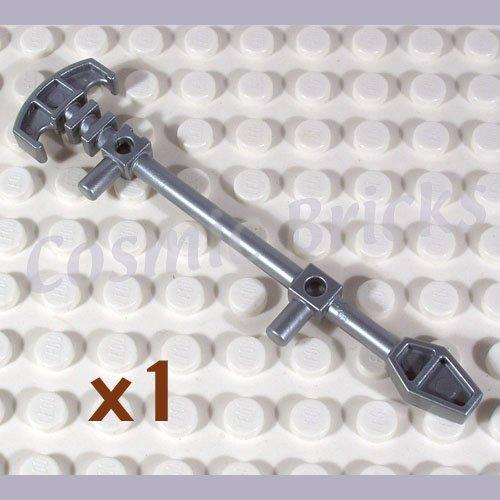 LEGO Flat Silver Minifig Weapon Bionicle Mini Staff Matau 51644 (single,N)