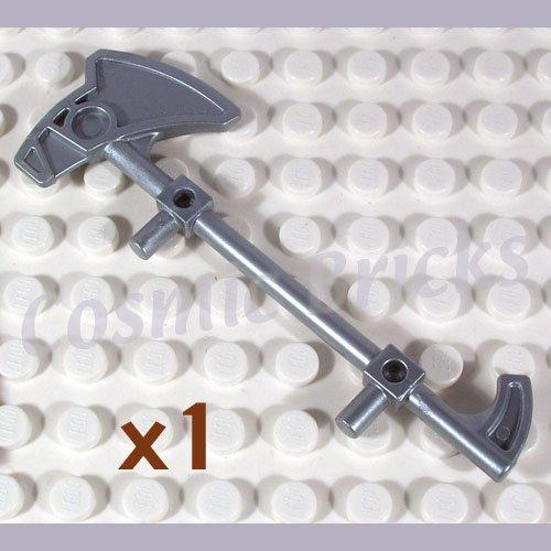 LEGO Flat Silver Minifig Weapon Bionicle Mini Staff Nokama 51641 (single,N)